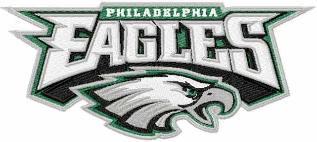 Philadelphia Eagles logo 2 machine embroidery design