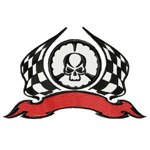 Tribal racing for auto sport uniform machine embroidery design