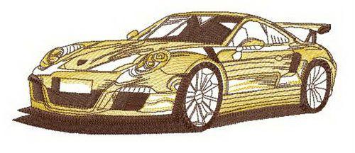 Racing car embroidery design 2