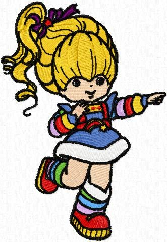 Rainbow Brite embroidery design