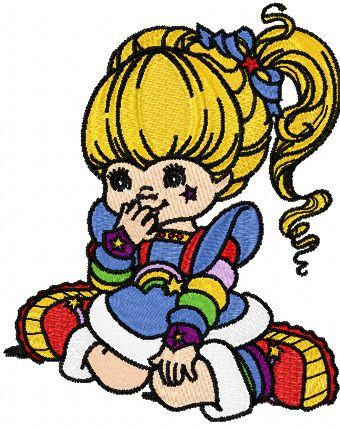 Rainbow Brite Dream embroidery design