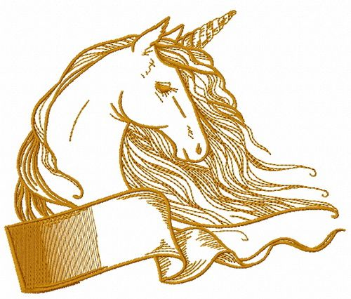 Rainbow unicorn embroidery design 3