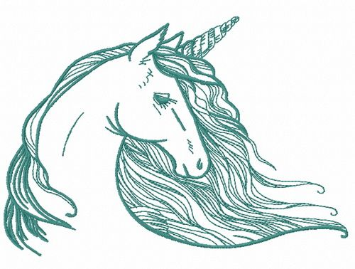 Rainbow unicorn embroidery design 4