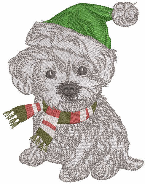Ready for a winter walk embroidery design