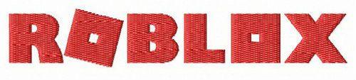 Roblox logo embroidery design
