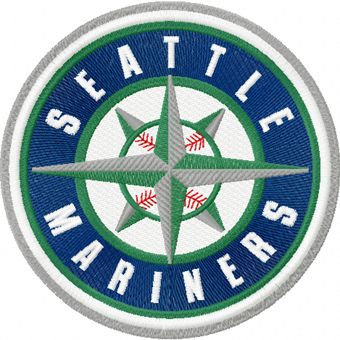 Seattle Mariners logo machine embroidery design
