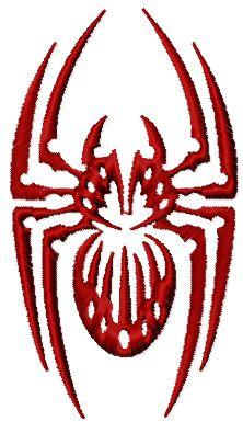 Spider free machine embroidery design