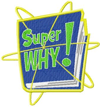 Super Why Logo embroidery design