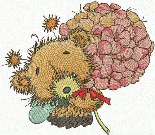 Teddy bear fairy embroidery design 3