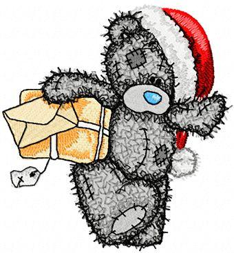 Teddy Bear Teddy Christmas postman embroidery design