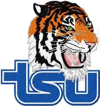 Tennessee State Tigers machine embroidery design
