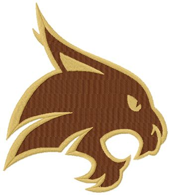 Texas St-San Marcos Bobcats Logo machine embroidery design