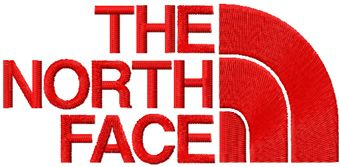 The North Face logo machine embroidery design