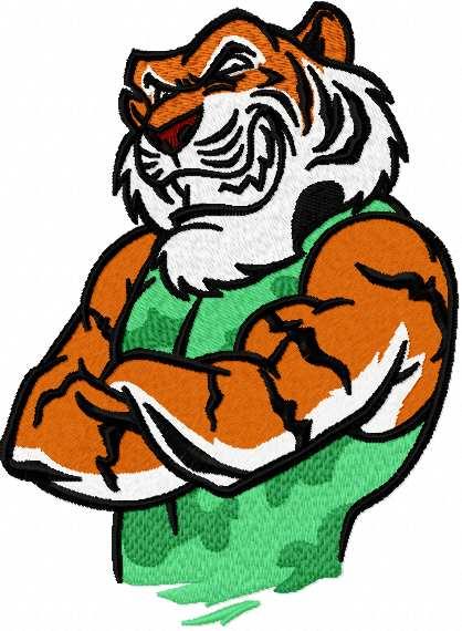 Tiger mascot embroidery design 7