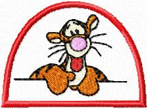 Tigger very friendly embroidery design