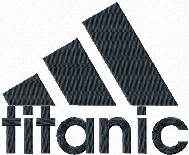 Titanic Adidas logo machine embroidery design