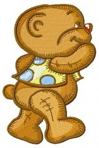 Toddler teddy bear embroidery design