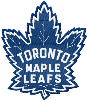 Toronto Maple Leafs machine embroidery design