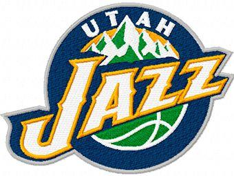 Utah Jazz Logo machine embroidery design 2