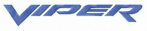 Dodge Viper wordmark logo embroidery design