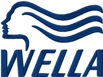 Wella classic logo machine embroidery design