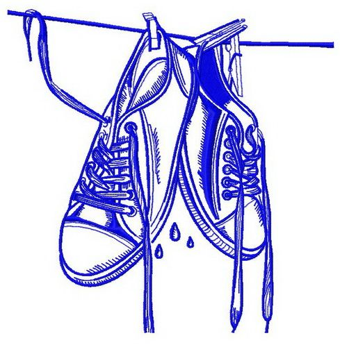 Wet gumshoes machine embroidery design 2