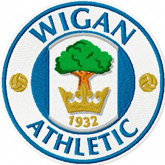 Wigan Athletic logo machine embroidery design