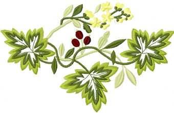 Wild berries free embroidery design
