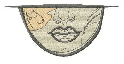 Woman's lips embroidery design