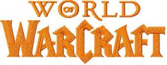 World of Warcraft logo machine embroidery design