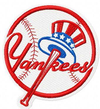 New York Yankees logo machine embroidery design