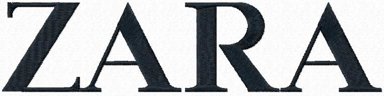 ZARA logo embroidery design