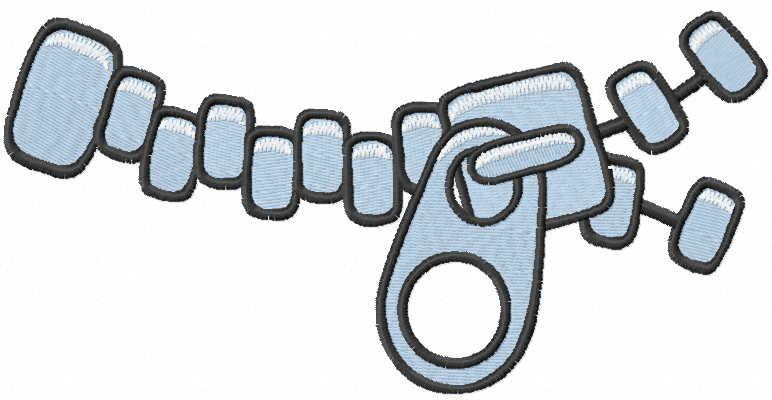 Zipper embroidery design 2