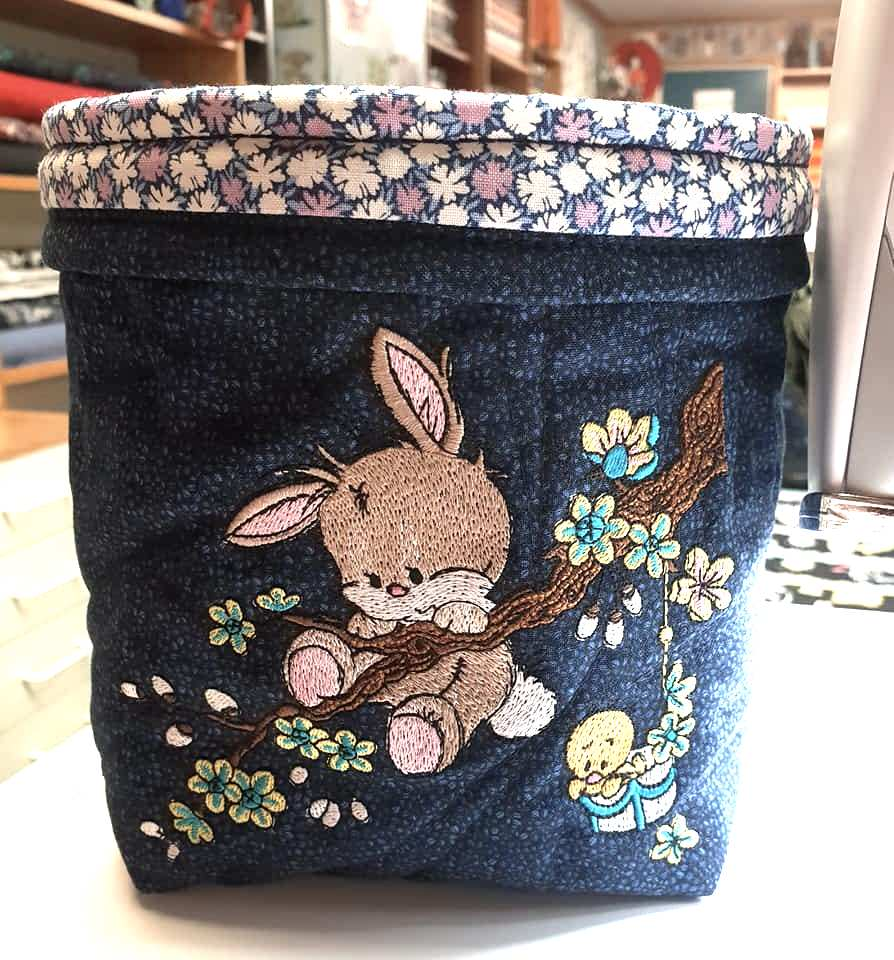 Embroidered basket for storing all small things