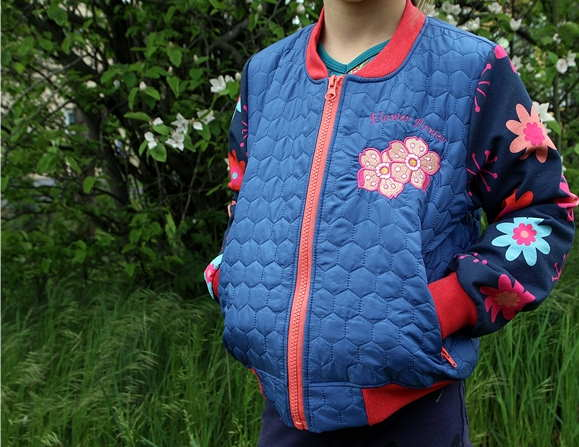 Embroidered jacket with flowers free design