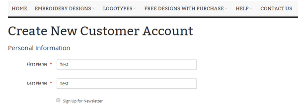 Create New Account in www.embroidnew.com